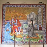 Colourful mural in Church of St. George.