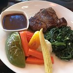 Australia Angus beef with Spinach, Saute vegetable