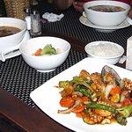 Sea food vegetable stir fry