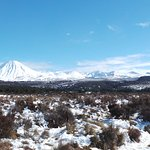 Surrounding Mountain Ranges - Mt Tongariro - on the way to Taupo from Wellington