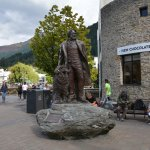 statue of William Gilbert Rees on Queenstown lakeside