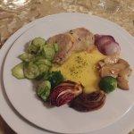 Piatto di carne (pollo bio al forno)
