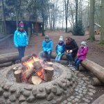 The fire pits are a very welcome rest stop in winter