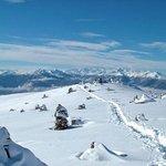 Winter in Mölten. Eignet sich super mit Schneeschuhen zum Wandern