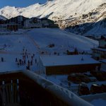 Picture from the balcony over the ski school area.