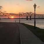 On the hill of Weymouth overlooking the mighty Mississippi and the bridge btw Natchez Miss and V