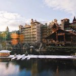 Rear View of Mohonk Mountain House by Lake Mohonk