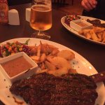 Photy doesn't do the steak justice !  Absolutely delicious with a lovely creamy pepper sauce and