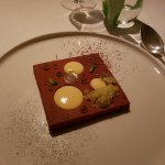 'chocolate with yuzu and mint'