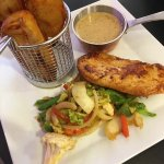 Chicken, Idahopotato and peppersauce