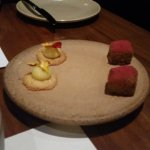 Part of the 5 course degustation. Wagyu beef & dessert missing.