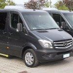 A few of our 8 passenger Mercedes Sprinter vans
