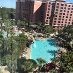 View of the pool from our room on the 7th floor in Tower 1.