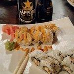 Sushi, Tempora Shrimp and Spicy Tuna
