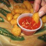 Cheese Curds with dipping sauce