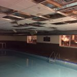 Ceiling falling down in pool area