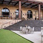 OUTLAW Taproom outdoor patio + bocce ball court