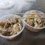 Ahi tuna poke (Wasabi and avacado varities)