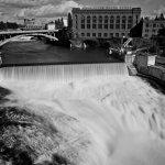 The falls of the Spokane River