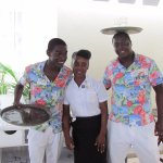 The best waiters at the Pisces AND the jerk chicken is awesome!