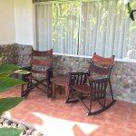 Private back patio