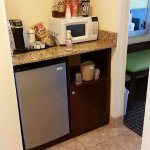 Fridge and Microwave in every room, along with Keurig!!