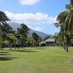 The Great House - Mt Nevis behind
