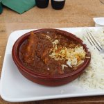 Comes as a Tapas or a main, Malay (beef) Curry - excellent.
