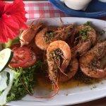Nice garlic king prawns