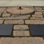 The eternal flame at John F. Kennedy's grave