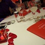 Tischdeko am Valentinstag