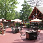 The Patio with outdoor dining and entertainment