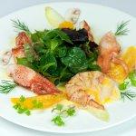 Hummer Salat, Orangenbutter