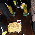 Drinks fries, and juices
