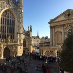 View from the top floor to Bath Abbey