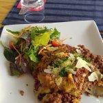 Lasagne with salad....delish!