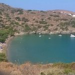 One of two beaches directly adjacent to Panagia Chrissopigi church.
