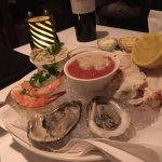 Off their appetizer's menu - the chilled seafood platter!!