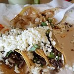 tacos and grilled onions