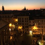 Good night Rome. Roof top patio, Albergo del Senato, Rome