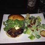 Church Key burger with Caesar salad