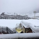 a little wine and snow