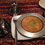 Kunefe: shredded filo dough stuffed with Kurdish cheese with home made syrup and pistachios