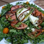 This was the buratta caprese salad with basil pesto and balsamic reduction
