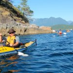 Paddling on a clear summer day in Desolation Sound