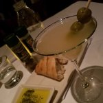 (Very) dirty vodka martini (with blue cheese stuffed olives)