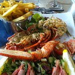Lobster dish at Sam on the beach. The best meal I had!