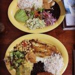 Vegetarian and Fish Casados - delicious!