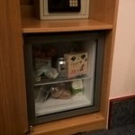 Safe and fridge.