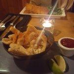 salt chilli squid chilli jam and brie wedge